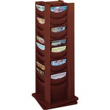 Safco 48-Pocket Solid Wood Rotating Display Rack
