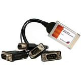 StarTech.com 4 Port CardBus RS232 Serial Laptop PC Adapter Card - 16950