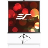 "Elite Screens Tripod T119UWS1 Manual Projection Screen - 119"" - 1:1 - Floor Mount"