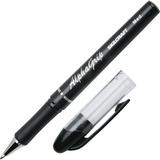 SKILCRAFT Cushion Grip Transparent Ballpoint Pen - Medium Point Type - Refillable - Black - Black Ba NSN4244875
