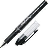 SKILCRAFT Cushion Grip Transparent Ballpoint Pen - Fine Point Type - Refillable - Black - Black Barr NSN4244884