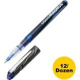 SKILCRAFT Free Ink Rollerball Pen - 0.5 mm Point Size - Blue - 1 Dozen NSN4612663