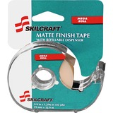 SKILCRAFT Tape Dispenser Kit With Tape - Holds Total 1 Tape(s) - Clear NSN5167575