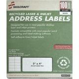 "SKILCRAFT Laser Shipping Label - 2"" Width x 4"" Length - 10 / Sheet - Rectangle - Laser, Inkjet - Whi NSN5144903"