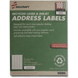 "SKILCRAFT Address Label - 1.75"" Width x 0.5"" Length - 100 / Box - Rectangle - Laser, Inkjet - Bright NSN5144911"