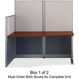 Bush® Straight Workstation (Box 1 of 2) Office-in-an-Hour, Hansen Cherry BSHWC36492A103