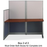 Bush® Straight Workstation (Box 2 of 2) Office-in-an-Hour, Hansen Cherry BSHWC36492A203