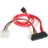 StarTech.com S18in SAS 29 Pin to SATA Cable with LP4 Power