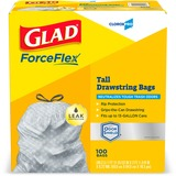 CLO70427 - Glad ForceFlex Tall Kitchen Drawstring Tras...