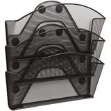 SAF4175BL - Safco Black Magic Magnetic Triple File Pocket