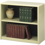 "Safco ValueMate Bookcase - 31.8"" x 13.5"" x 28"" - 2 x Shelf(ves) - Sand - Steel, Fiberboard, Plastic  SAF7170SA"