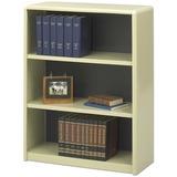 "Safco ValueMate Bookcase - 31.8"" x 13.5"" x 41"" - 3 x Shelf(ves) - Sand - Steel, Fiberboard, Plastic  SAF7171SA"