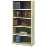 "Safco ValueMate Bookcase - 31.8"" x 13.5"" x 67"" - 5 x Shelf(ves) - Sand - Steel, Fiberboard, Plastic  SAF7173SA"