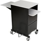 "Balt Projector Stand - 2 x Shelf(ves) - 40"" Height x 21.3"" Width x 30.5"" Depth - Gray, Black BLT27517"
