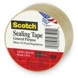 "Tartan Tartan General Purpose Shipping Packing Tape - 1.88"" Width x 54.60 yd Length - 3"" Core - Synt MMM37102CR"