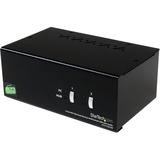 StarTech.com 2 Port DVI VGA Dual Monitor KVM Switch USB with Audio & USB 2.0 Hub