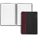 TOPS Leatherette Executive Notebook - 96 Sheets - Printed - Twin Wirebound - 20 lb Basis Weight 8.25 TOP25435