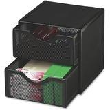 Rolodex Expressions Mesh Cube w/ Drawers - 2 Drawer(s) - Desktop - Black - Steel - 1Each ROL9E5600BLA
