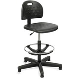 Safco Soft Tough Economy Workbench Drafting Chair - Foam Black, Polyurethane Seat - Foam Back - 5-st SAF6680