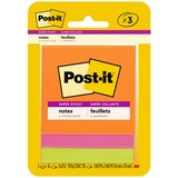 "Post-it Super Sticky Notes, 3 in x 3 in, Rio de Janeiro Color Collection - 135 - 3"" x 3"" - Square -  MMM3321SSAU"