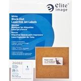 "Elite Image Block-out Full Sheet Laser/Inkjet Label - Permanent Adhesive - 8.50"" Width x 11"" Length  ELI26082"