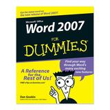 Wiley Word 2007 For Dummies Software Printed Manual by Dan Gookin