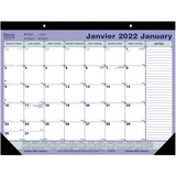 Blueline Perforated Monthly Desk Pad Calendar