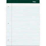 TOPS Double Docket Writing Pad - 100 Sheets - Printed - Double Stitched - 60 lb Basis Weight - Lette TOP63393