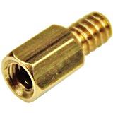StarTech.com 6-32 Brass Motherboard Standoffs for ATX Computer Case - 15 Pack