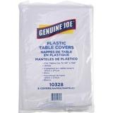 Genuine Joe Plastic Tablecovers