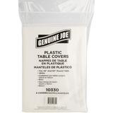 Genuine Joe Plastic Round Tablecovers