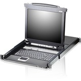 "Aten Slideaway CL5716 19"" LCD Console with 16-Port KVMP Switch"