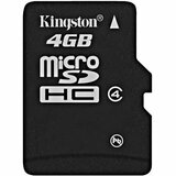 Kingston 4GB microSD High Capacity (microSDHC) Card - (Class4)