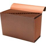 """Sparco A-Z Accordion File - Legal - 8 1/2"""" x 14"""" Sheet Size - 21 Pocket(s) - Brown - Recycled - 1 Ea SPR23683"""