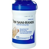 "Sani-Hands ALC Sani-Hands ALC Disinfectant Hand Sanitizing Wipe - 6"" x 7.50"" - White - Anti-septic,  NICPSAL077472"