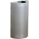 """Rubbermaid Commercial Open Top Half Round Waste Can - 12 gal Capacity - Semicircular - 32"""" Height x  RCPSH12EPLSM"""