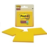 "Post-it Super Sticky Notes, 3 in x 3 in, Canary Yellow - 135 - 3"" x 3"" - Square - 45 Sheets per Pad  MMM3321SSCY"
