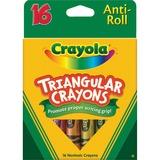 Crayola Triangular Anti-roll Crayons - Assorted - 16 / Box CYO524016