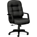 HON Pillow-soft 2090 Series High-back Executive Chair - Foam Charcoal Seat - Fiber Charcoal Back - B HON2091NT19T