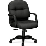 HON Pillow-soft 2090 Series Management Chair - Foam Charcoal Seat - Foam Back - Black Frame - 5-star HON2092NT19T