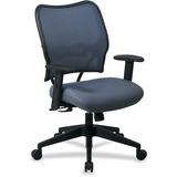 Office Star Space VeraFlex Series Task Chair - Fabric Blue Mist Seat - Fabric Back - 5-star Base - B OSP13V77N1WA
