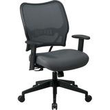 Office Star Space VeraFlex Series Task Chair - Fabric Charcoal Seat - Fabric Charcoal Back - Plastic OSP13V44N1WA