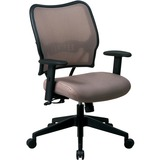 Office Star Space VeraFlex Series Task Chair - Fabric Latte Seat - Fabric Back - 5-star Base - Latte OSP13V88N1WA