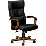 Basyx VL844 Executive Wood High-Back Chairs
