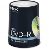 DVD+R Discs, 4.7GB, 16x, Spindle, 100/Pack  MPN:48521