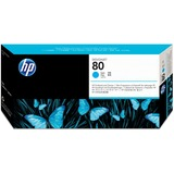 HP 80 Cyan Printhead/Cleaner
