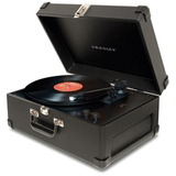 Crosley CR49 Portable Black Record Turntable