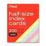 "Mead Printable Index Card - 3"" x 2.50"" - 200 / Pack - Assorted MEA63039"