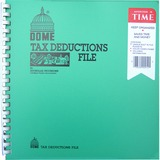 """Dome Tax Deductions File - 11"""" x 9.75"""" Sheet Size - Recycled - 1 Each DOM912"""
