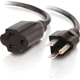 C2G 12ft 18 AWG Outlet Saver Power Extension Cord (NEMA 5-15P to NEMA 5-15R)